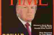 Trump presume portada falsa de 'Time' en sus clubes de golf