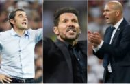 Simeone, Valverde y Zidane, nominados al The Best