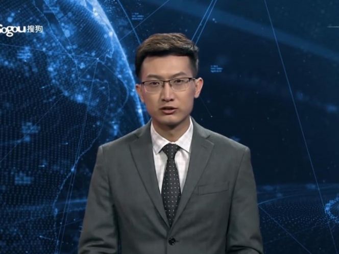 China 'contrata' al primer conductor de noticias virtual