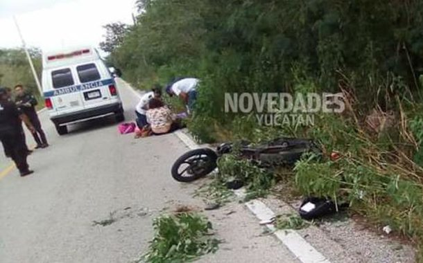 En accidente de tres hermanos en moto, salvan al bebé